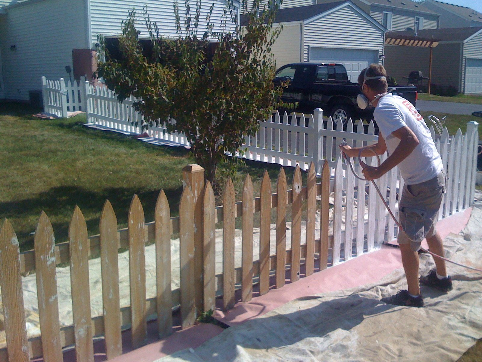 Yorkville Fence Staining