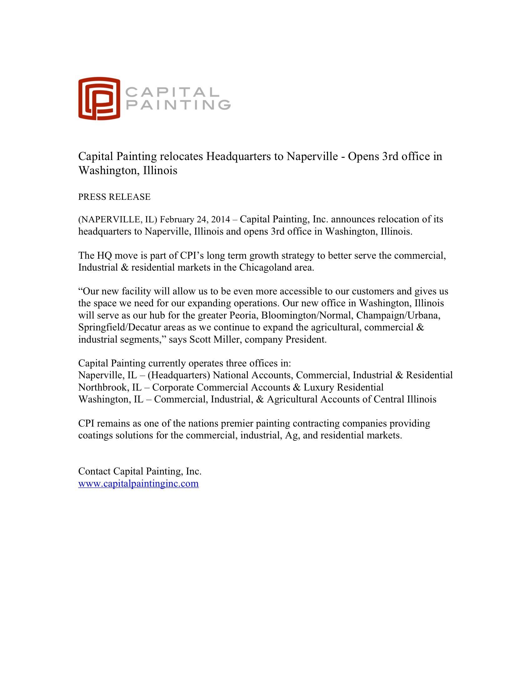 CP Press Release